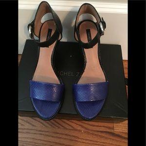 Rachel Zoe blue and black high heels